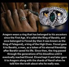 So, the ring of Barahir is older than the One Ring. Tolkien Books, J. R. R. Tolkien, Lord Of The Rings, Rings For Men, Lotr Cast, Lotr Elves, Concerning Hobbits, High Elf, Rpg