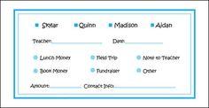 Blue Money Envelope
