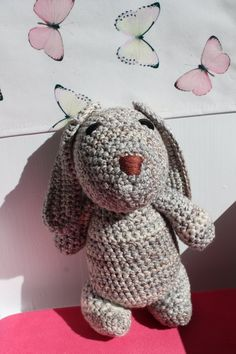 Cute Amigurumi Bunny crochet earth tones stuffed by BoxOfBeasts