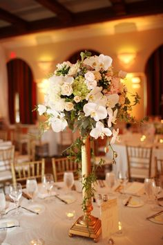 Photo: Adrienne Gunde Photography - wedding centerpiece idea