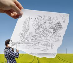 Misto de realidade e imaginação - Ben Heine