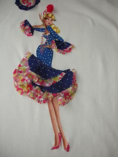 FLAMENCA Embroidery Works, Embroidery Applique, Crochet Quilt, Sewing Appliques, Soft Dolls, Applique Quilts, Whimsical Art, Doll Face, Fabric Painting