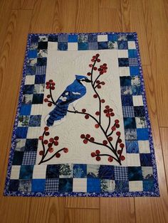 Blue Jay Inspired by Redbird and Berries by DiDi McPhillips