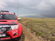 Arctic Trucks and a rainbow in the Icelandic highlands Toyota Hilux, Adventure Tours, Self Driving, Highlands, All Over The World, Arctic, Offroad, Iceland, 4x4