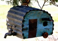 Ranch Farmgirl blog - vintage trailer birdhouse.