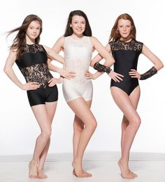 Lace dancewear in sophisticated black and white. Perfect for ballet, tap, lyrical, contemporary, hip hop, street and all types of dance. Bang on trend. www.dancinginthestreet.com #fashion #style