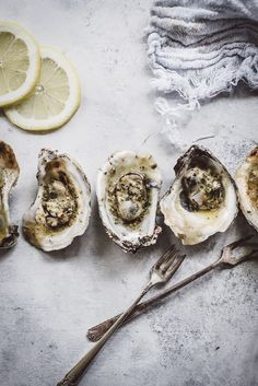 These Grilled Oysters with Bacon Cayenne Butter are loved by everyone including non-oyster lovers. Seafood Soup Recipes, Restaurant Recipes, Sushi Recipes, Seafood Broil, Grilled Oysters, Oyster Recipes, Pinterest Recipes, Fish And Seafood, Food Styling