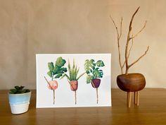 Plant cancan - monstera lover illustration / botanical print / botanical wall decor / house plant print / plant art Plant Art, Plant Illustration, All Poster, Begonia, Botanical Prints, Beautiful Artwork, House Plants, Illustrations Posters, Color Schemes