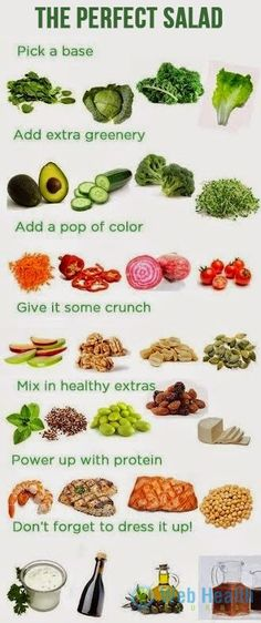 The perfect salad for health.