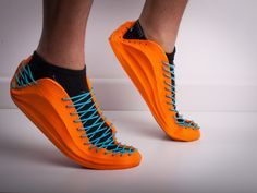 The Recreus Sneakers I has been created with a prusa with a large working space (Y axis) and non-heated glass bed. To print this sneakers we used orange FilaFlex and blue FilaFlex Impression 3d, Diy 3d Drucker, Prusa I3, 3d Printed Objects, Shoes 2018, 3d Printer Designs, 3d Printer Filament, 3d Prints, Dandy