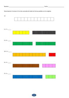 Maths with rods Numicon, Basic Math, Math Concepts, Circle Time, Math Games, Montessori, Bar Chart, Homeschool, Teaching