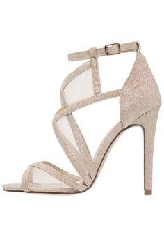 Sandaletter - gold glitter