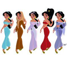 Jasmine 🌟 #disney #disneyprincess #princessjasmine #aladdin #draw #drawing #sketch #doodle #girlsinanimation #nereamas #art #illustration