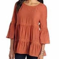 NWT Spense Ivory Peasant Top With Daisy Details❤️ NWT. Brand: Spense. Size: Large. Color: Ivory. There is a daisy detail through out the top. Style: Peasant Top. Sleeves has a see through Daisy design. Spense Tops