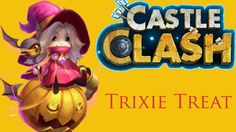 Castle Clash HD NEW HERO Trixie Treat GamePlay Castle Clash, Card Games, Gaming, Hero, Treats, Watch, Youtube, Cards, Fictional Characters