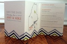 """Not crazy about the actual save the date, but the map is cool. Would go with the """"lost in the woods"""" and the """"survival guide"""" ideas."""