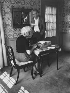 Author Vladimir Nabokov Dictating to His Wife