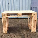 Fette Palette  Stark. Individuell. Stilvoll. Möbel mit Industriecharme. Palettenschreibtisch (Beispielsfoto)  120cm lang / 80cm breit / 72cm hoch Schreibtisch mit geschlossener Oberfläche...