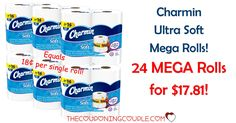 HOT DEAL! DON'T MISS THIS! Get a RARE deal on Charmin Mega Rolls! Pay only $0.18 per single roll equivalent! Pay $17.81 for 24 MEGA Rolls shipped!  Click the link below to get all of the details ► http://www.thecouponingcouple.com/rare-charmin-mega-roll-sale-less-than-0-25-per-single-roll-shipped/ #Coupons #Couponing #CouponCommunity  Visit us at http://www.thecouponingcouple.com for more great posts!