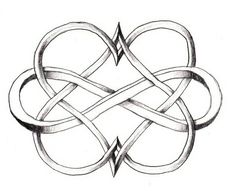 Two hearts and infinity symbol