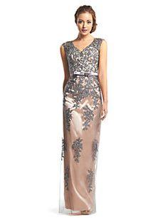 ts couture® vaina vestido de noche formal / columna v-cuello palabra de longitud de encaje / tul con encaje