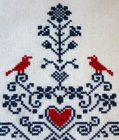 cross stitch. i'm thinking a little grouping of vintage looking pcs