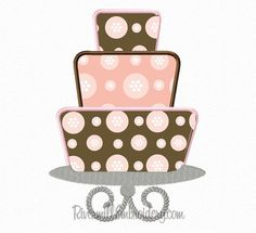 Three Tiered Cake On Stand Applique Machine by RivermillEmbroidery, $2.95