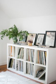 75 Cool IKEA Kallax Shelf Hacks For Every Space 75 Cool IKEA Kallax Shelf Hacks For Every SpaceIKEA Kallax and are the best canvas for creating! Kallax shelves are so universal that you Etagere Kallax Ikea, Ikea Kallax Regal, Ikea Kallax White, Ikea Shelves, Shelves In Bedroom, Shelving Units, Bedroom Storage, Storage Units, Ikea Kallax Shelf Unit
