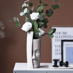 Flower Vases, Flower Pots, Flower Arrangements, Funky Decor, Modern Decor, Iron Art, Face Design, Statue, Face Art