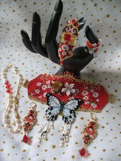 Bead Loom Bracelets, Beaded Bracelet Patterns, Bead Loom Patterns, Beaded Earrings, Beading Patterns, Beaded Jewelry, Beadwork Designs, Jewelry Making Tutorials, Loom Beading