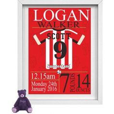 Sunderland Personalised Childrens Nursery Picture
