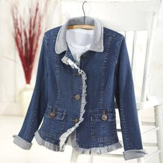 Fleece Trimmed Denim Jacket - Women's Clothing, Jewelry, Fashion Accessories & Gifts for Women with a Flair of the Outdoors   NorthStyle