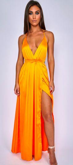 Colour: Mango Polyester Elasticated waistline Low V-neckline Tie up back feature My Size, Mango, Wrap Dress, Neckline, Slim, Collection, Color, Dresses, Fashion
