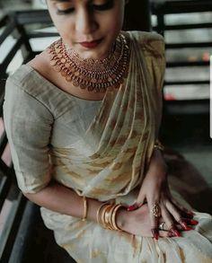 Kerala Bride, Bridal Party Dresses, Saree Wedding, Crop Tops, Sarees, Accessories, Jewellery, Skirt, Blouse