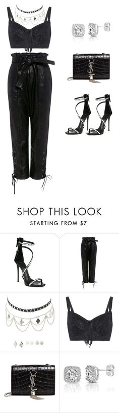 """""""All Black Night Outfit"""" by patricianlouis on Polyvore featuring Giuseppe Zanotti, Marissa Webb, Charlotte Russe, Dolce&Gabbana, Yves Saint Laurent and Collette Z"""
