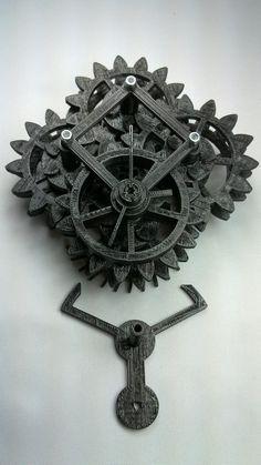 3D printed clock.