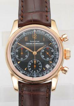 Gts.18ct.Rose Gold Girard-Perregaux Chronograph - Attenborough Pawnbrokers & Jewellers
