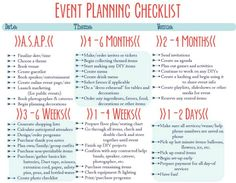 As Event Managers Event Checklists Are Essential To Assist Us In