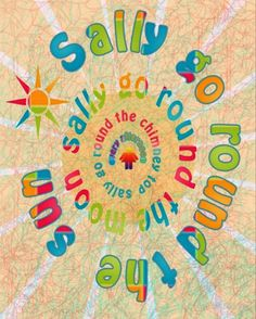 Sally Go Around-Childrens Art Print-Art Print-Mugs,Cases,Duvets,T Shirts,Stickers