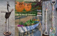 Animaux on pinterest - Idees deco jardin recup ...