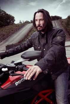 Keanu Reeves. Or Jesus Christ on a Ducati, wearing a leather jacket and just being cool.