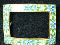 Blue Forget Me Nots Flowers Enamel Edwardian Pin by azmzgold, $11.88