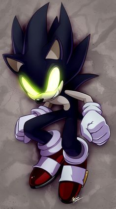 Dark Sonic (colored) by Myly14 on DeviantArt