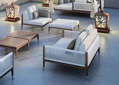 a touch of Amalfi for your own backyard - Patios - Design Rattan Furniture Outdoor Sofa, Diy Outdoor Furniture, Deck Furniture, Outdoor Seating, Outdoor Spaces, Modern Furniture, Outdoor Living, Furniture Design, Furniture Ideas