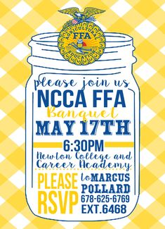 FFA Banquet Invitation