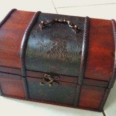 Jewelry Armoire by The Classy Home Jewelry Armoire, Jewelry Box, Pirate Boats, Pirate Treasure Chest, Pirate Wedding, Pirate Decor, Bedroom Boys, Toy Boxes, Bar Ideas