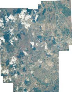 Madrid, vista desde el espacio con todo detalle