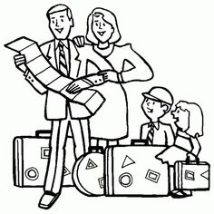 Family Traveling Coloring Page : Coloring Sky Family Coloring Pages, Online Coloring, Family Travel, Traveling, Sky, Fictional Characters, Family Trips, Viajes, Heaven