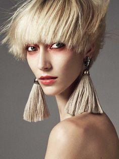 hair beauty Alana Zimmer by Mikael Schulz for Harper's Bazaar Netherlands December 2015