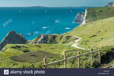 Download this stock image: View at Lulworth, Dorset, UK. Taken on 28th September 2015 on a walk to Durdle Door. - F3EPTN from Alamy's library of millions of high resolution stock photos, illustrations and vectors.